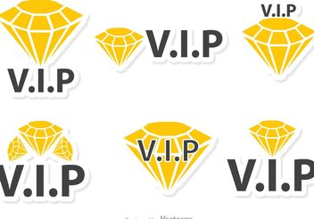 Diamond Vip Icons Vector Pack - Free vector #160583
