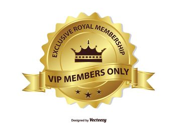 Exclusive VIP Membership Badge - Free vector #160593