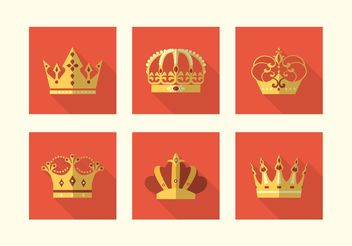 Free Flat Crowns Vector Icons - Kostenloses vector #160603