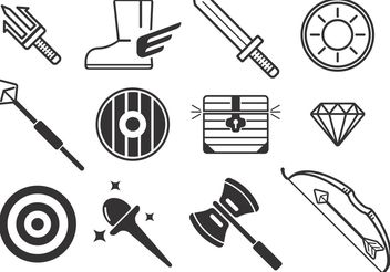 Weapon Vector Icons - vector gratuit #160633