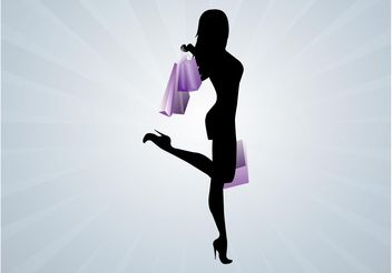 Sexy Girl Shopping - vector gratuit #160663