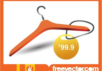 Clothes Hanger And Price Tag - бесплатный vector #160673