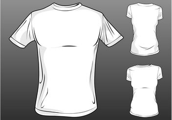 Vector T-Shirt Templates - бесплатный vector #160713