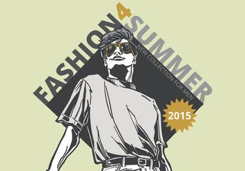 Free Vector Cool Dude Fashion Poster - бесплатный vector #160803