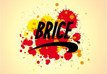 Brice Logo And Splatter - Kostenloses vector #160903