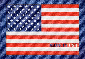 Free Made In Usa Vector Denim Design - vector gratuit #160923