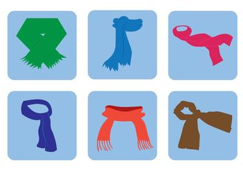 Free Vector Neck Scarf Icons - бесплатный vector #160933