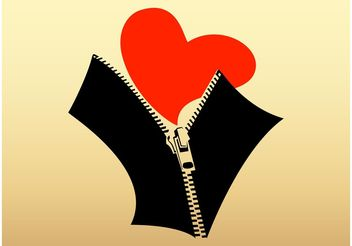 Heart And Zipper - Free vector #161003