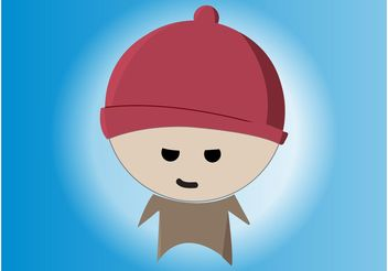 Mean Cartoon Boy - vector gratuit #161013