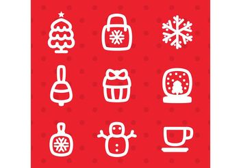 Winter Vector Icons - Kostenloses vector #161073