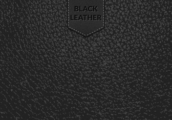 Free Black Leather Vector Background - vector gratuit #161113