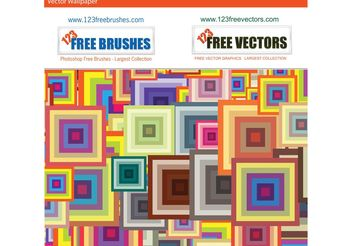 Colorful Squares Pattern - vector gratuit #161133