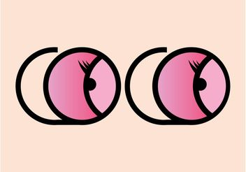 Cartoon Eyes Graphics - Kostenloses vector #161173