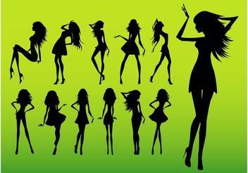 Girl Silhouettes - Kostenloses vector #161193