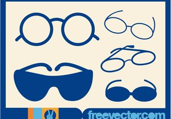 Glasses Illustrations - бесплатный vector #161223