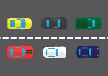 Car Aerial View Vector Set - Free vector #161273