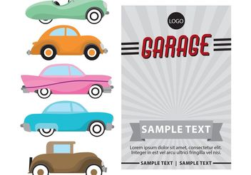 Poster Cars Retro Vector - бесплатный vector #161293