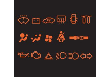 Car Vector Icons - Kostenloses vector #161333