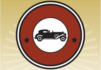 Vintage Car Icon - Free vector #161363