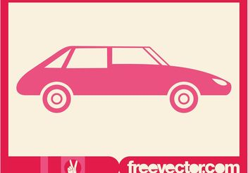 Pink Car Silhouette - Free vector #161383