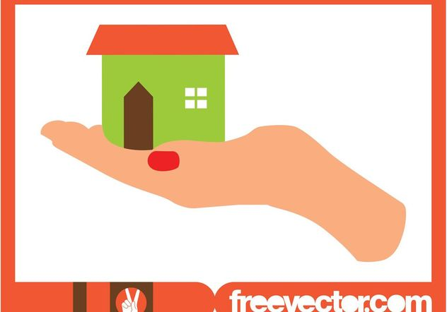 Haus Hand holding - Kostenloses vector #161393