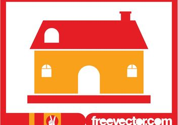 Stylized House Image - Free vector #161403