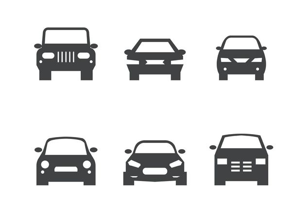 Black Car Front Silhouettes - Free vector #161463
