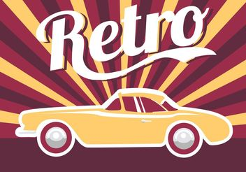 Poster Car Retro - Free vector #161473