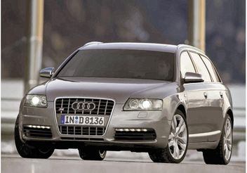Silver Audi S6 - Free vector #161483
