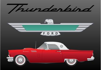 Ford Thunderbird Vector - бесплатный vector #161743