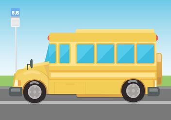Free Vector School Bus - vector gratuit #161833