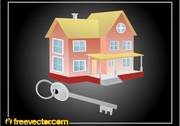 House And Key - vector gratuit #161843