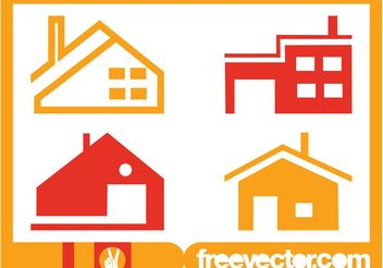 House Icons Set - Kostenloses vector #161883