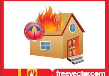 Burning House Graphics - vector gratuit #161893