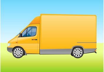 Delivery Van - Free vector #161943