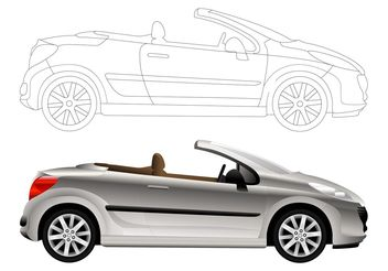Convertible Car Graphics - vector gratuit #161963