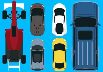Vector Car Aerial View Pack - бесплатный vector #162013