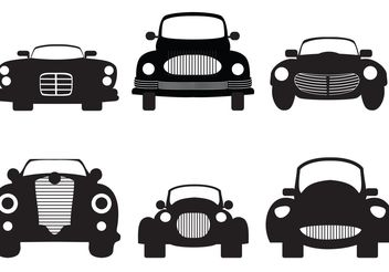 Classic Car Silhouette - Free vector #162033