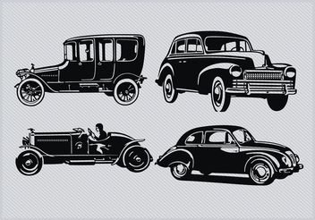 Vintage Car Silhouette Pack - Free vector #162063