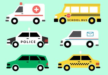 Public Vehicle Vectors - vector gratuit #162073