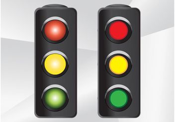 Traffic Lights Vector - vector gratuit #162143