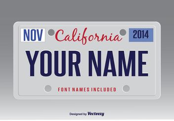 Vector License Plate - vector gratuit #162183
