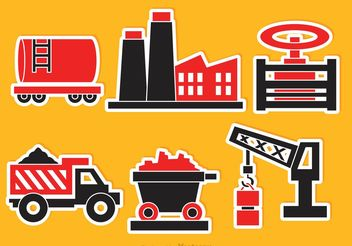 Industrial Vector Icons - Free vector #162203