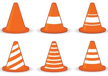 Orange Cone Icon Vectors - vector gratuit #162233