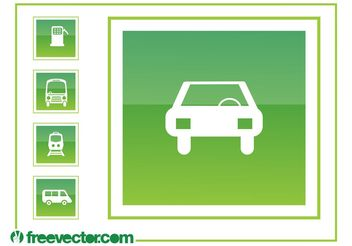 Driving Icons Graphics - vector gratuit #162253