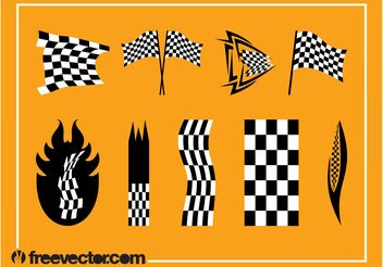 Racing Flags Vector Graphics - бесплатный vector #162273