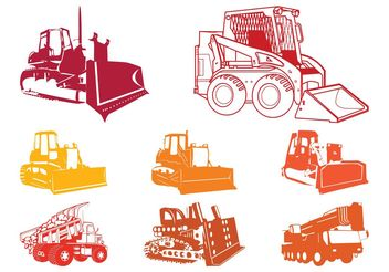 Construction Equipment Silhouettes - vector gratuit #162313