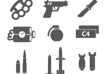 Military Icons - vector gratuit #162373