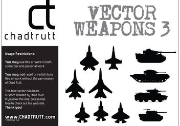 Tanks and Plane Silhouettes - Free vector #162383