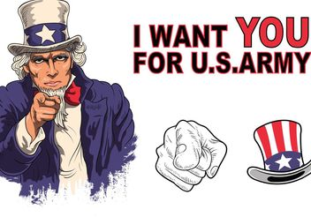 Uncle Sam Vector Pack - Kostenloses vector #162403